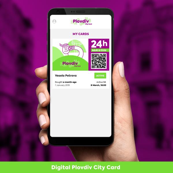 Plovdiv City Card 24h Adult & Child