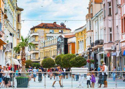Main Pedestrian Street in Plovdiv