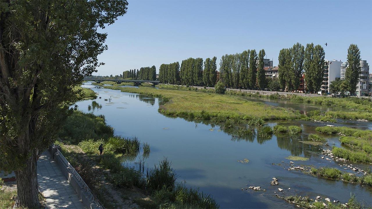 Maritsa River in Plovdiv