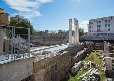 Roman Forum and Odeon in Plovdiv