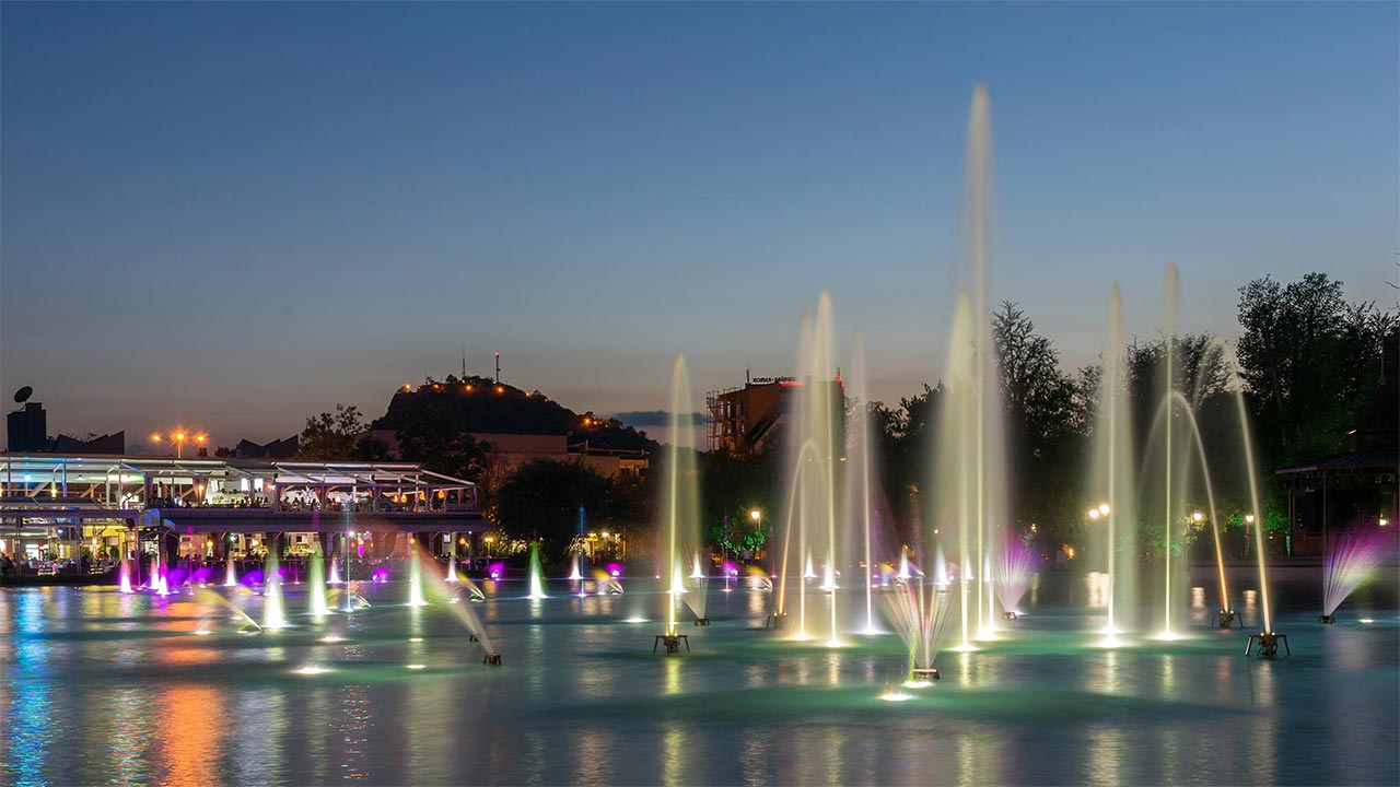 The Singing Fountains Lake in Plovdiv