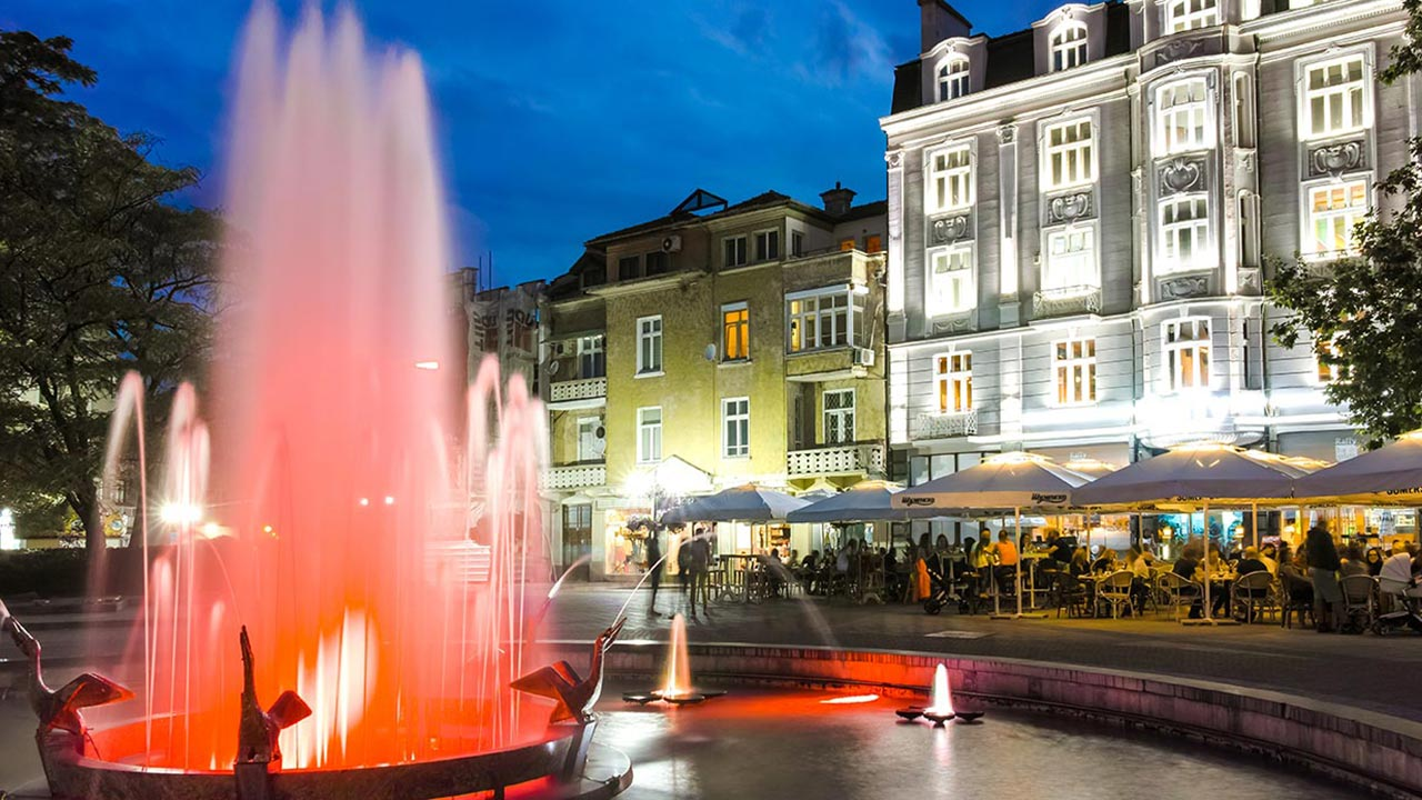 The Pelikan Fountain in Plovdiv
