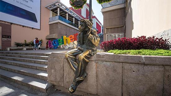 Statue of Milio in Plovdiv