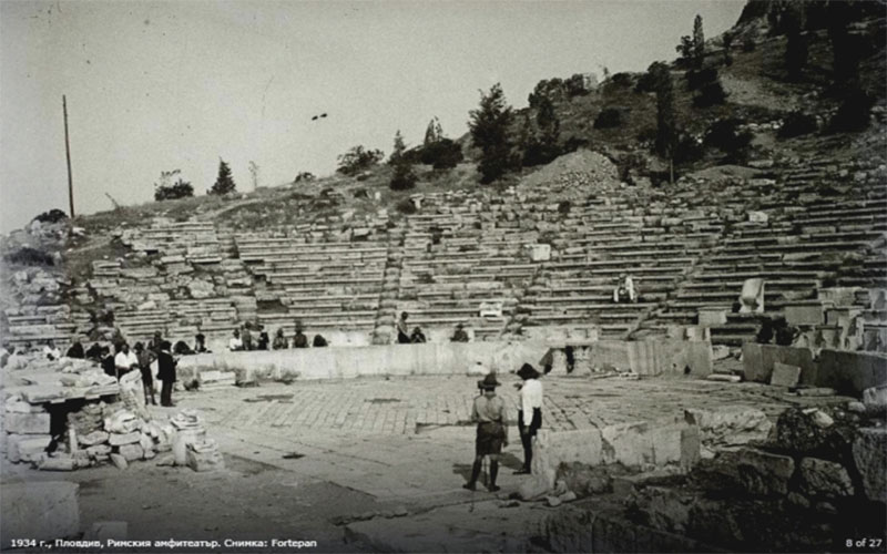 Ancient Theatre Plovdiv Old Photos