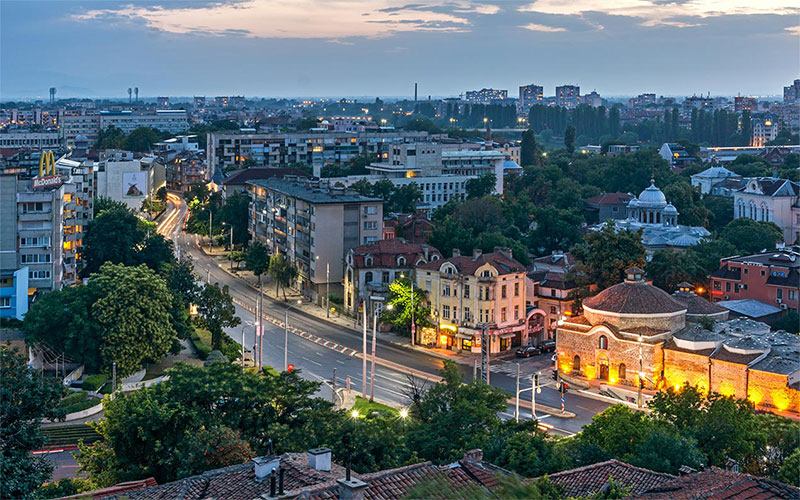 Panoramic view of Plovdiv
